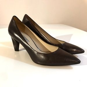 VIA SPIGA Italian Leather Pointed Pumps Heels